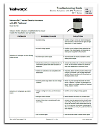 Troubleshooting - 5617 Series Electric Actuators with EPS Positioner