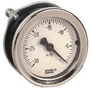 "WIKA Commercial Panel Mount Vacuum Gauge 1.5"", 30"" Hg"