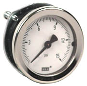 "Commercial Panel Mount Gauge 1.5"", 15 PSI"
