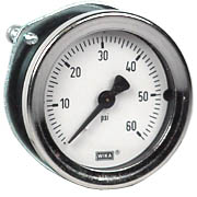 "WIKA Commercial Panel Mount Gauge 1.5"", 60 PSI"