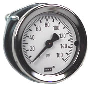 "WIKA Commercial Panel Mount Gauge 1.5"", 160 PSI"