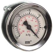 """WIKA Panel Mount Vacuum Gauge 2"""", 30""""Hg, 1/4"""" NPT"""