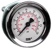 "Commercial Panel Mount Gauge 2"", 160 PSI, 1/4"" NPT"
