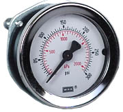 "WIKA Commercial Panel Mount Gauge 2"", 300 PSI, 1/4"" NPT"