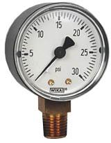 "Commercial Pressure Gauge 2"", 30 PSI"