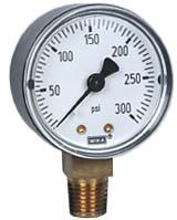 "WIKA Commercial Pressure Gauge 2"", 300 PSI"