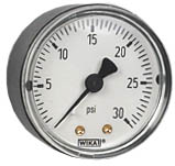 """WIKA Commercial Pressure Gauge 2"""", 30 PSI, 1/4"""" NPT"""