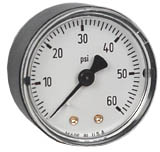 "Commercial Pressure Gauge 2"", 60 PSI, 1/4"" NPT"