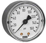 "Commercial Pressure Gauge 2"", 160 PSI, 1/4"" NPT"