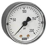 """WIKA Commercial Pressure Gauge 2"""", 200 PSI, 1/4"""" NPT"""