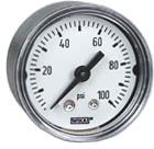 "WIKA Commercial Pressure Gauge 1.5"", 100 PSI"