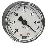 "WIKA Commercial Vacuum Gauge 2"", 30""Hg, 1/8"" NPT"