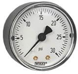 """WIKA Commercial Pressure Gauge 2"""", 30 PSI, 1/8"""" NPT"""