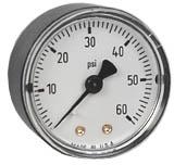 """WIKA Commercial Pressure Gauge 2"""", 60 PSI, 1/8"""" NPT"""