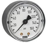 """WIKA Commercial Pressure Gauge 2"""", 160 PSI, 1/8"""" NPT"""