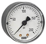 "Commercial Pressure Gauge 2"", 200 PSI, 1/8"" NPT"