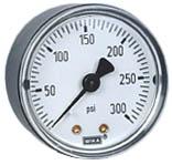 """WIKA Commercial Pressure Gauge 2"""", 300 PSI, 1/8"""" NPT"""