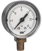 "Commercial Pressure Gauge 1.5"", 0-30 PSI"