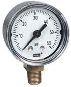"WIKA Commercial Pressure Gauge 1.5"", 0-60 PSI"