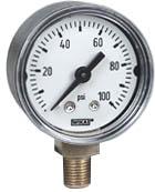 "WIKA Commercial Pressure Gauge 1.5"", 0-100 PSI"