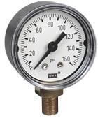 "WIKA Commercial Pressure Gauge 1.5"", 0-160 PSI"