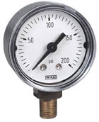 "Commercial Pressure Gauge 1.5"", 0-200 PSI"