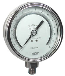 "WIKA Precision Test Gauge 4"", 15 PSI"