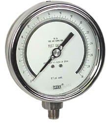"Precision Test Gauge 4"", 30 PSI"