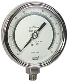 "WIKA Precision Test Gauge 4"", 60 PSI"