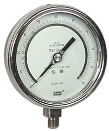 "Precision Test Gauge 4"", 100 PSI"