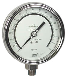 "WIKA Precision Test Gauge 4"", 160 PSI"