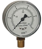 "WIKA Low Pressure Gauge 2.5"", 0-15"" H2O"
