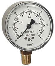 "WIKA Low Pressure Gauge 2.5"", 0-30"" H2O"