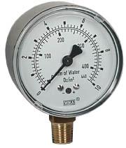 """Low Pressure Gauge 2.5"""", 0-10 OZ/SQ.IN."""
