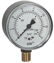 "Low Pressure Gauge 2.5"", 0-35 OZ/SQ.IN."