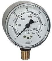 """WIKA Low Pressure Gauge 2.5"""", 0-60 OZ/SQ.IN."""
