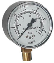 "WIKA Low Pressure Gauge 2.5"", 0-32 OZ/SQ.IN."