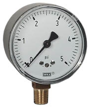"WIKA Low Pressure Gauge 2.5"", 0-5 PSI"