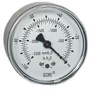 """WIKA Low Pressure Vacuum Gauge 2.5"""", 0-100"""" H2O"""