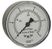 "WIKA Low Pressure Gauge 2.5"", 0-15"" H2O"