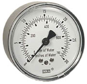 "Low Pressure Gauge 2.5"", 0-30"" H2O"