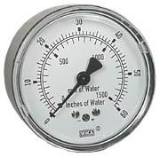 "Low Pressure Gauge 2.5"", 0-60"" H2O"