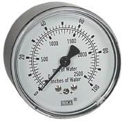 "WIKA Low Pressure Gauge 2.5"", 0-100"" H2O"