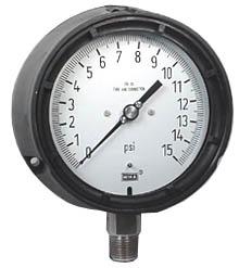 "WIKA Process Pressure Gauge 4.5"", 15 PSI"