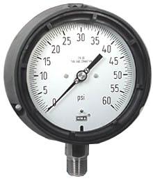 "WIKA Process Pressure Gauge 4.5"", 60 PSI"