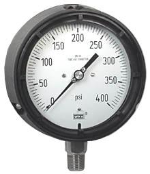 "WIKA Process Pressure Gauge 4.5"", 400 PSI"