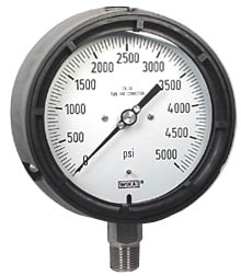 "WIKA Process Pressure Gauge 4.5"", 5000 PSI"