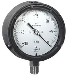 "WIKA Process Vacuum Gauge 4.5"", 30""Hg Vac, Liquid Filled"