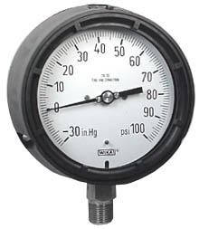 "Process Compound Gauge 4.5"", 30""Hg-0-100 PSI, Liquid Filled"