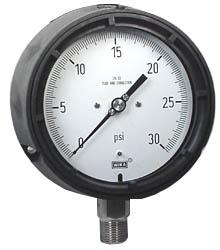 "WIKA Process Pressure Gauge 4.5"", 30 PSI, Liquid Filled"